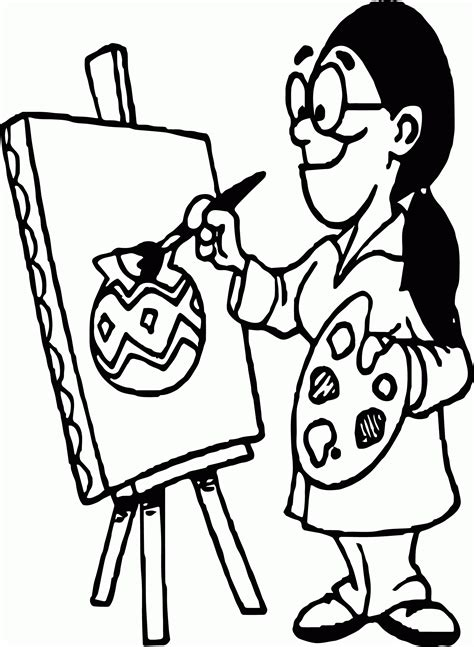 image artist tools art coloring page wecoloringpage