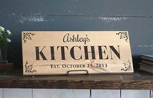 Kitchen signs personalized sign wood