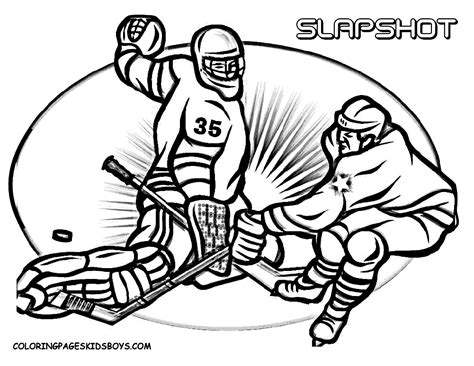 hockey coloring pages  kids enjoy coloring sports