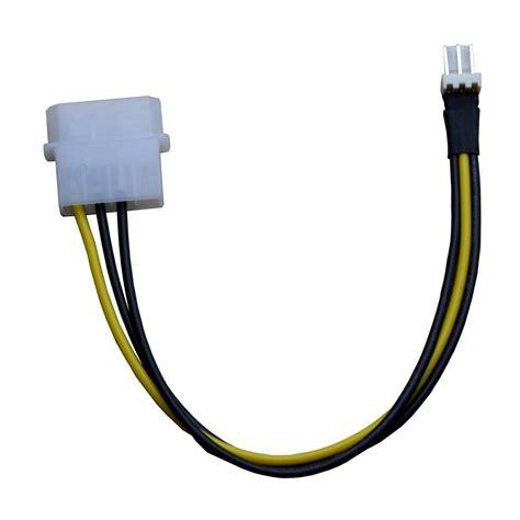 3 pin fan connector aliexpress com buy 4pin molex male port to 3pin male pc