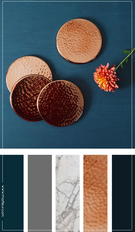 colors that compliment navy blue luxe favorite navy and copper luxe interiors