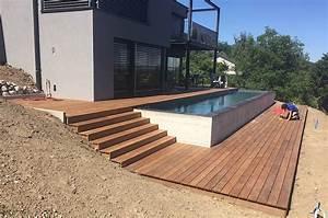 Bois De Terrasse : terrasse en bois ip et entourage piscine avec escalier as menuiserie ~ Preciouscoupons.com Idées de Décoration