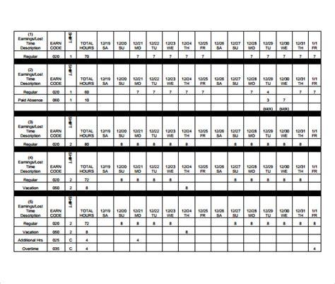 sample biweekly timesheet calculators sample templates