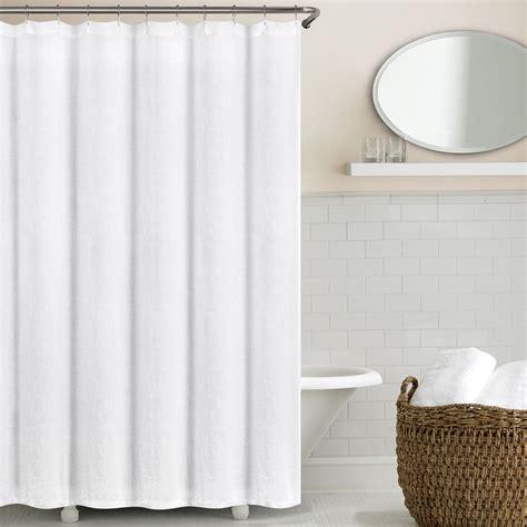 washed belgian linen shower curtains echelonhome