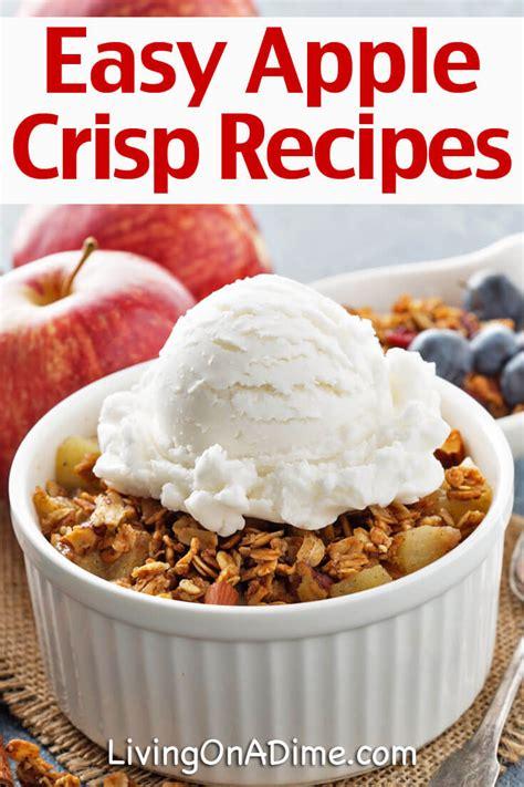 and easy apple recipes easy apple crisp recipes apple crisp peach cobbler and more