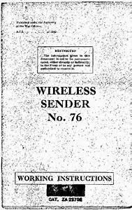 British Military Ws-76 Transmitter
