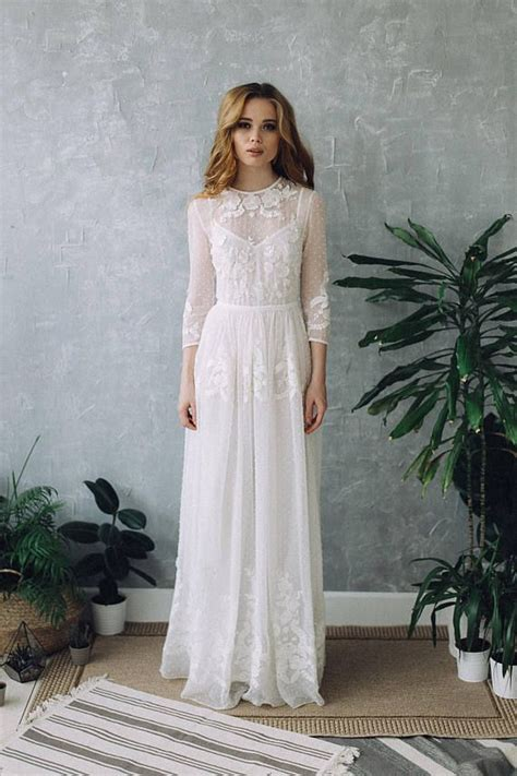 Boho Chic Kleid Dress D0101 Wedding Dress Boho Wedding Dress Wedding Dress Vintage Wedding Dress