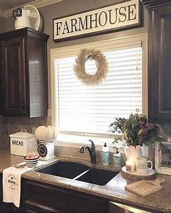 29 best farmhouse fall decorating ideas and designs for 2018 With kitchen colors with white cabinets with iron pumpkin candle holder