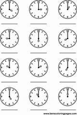 Clock Coloring Worksheets Pages Learning Kindergarten Tell Printables Hour Worksheeto Printable Telling Practice Via sketch template