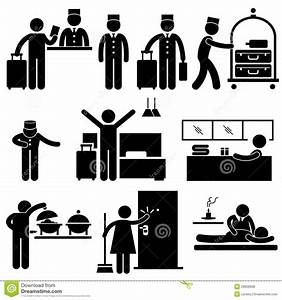 Hotel Workers And Services Pictogram Royalty Free Stock