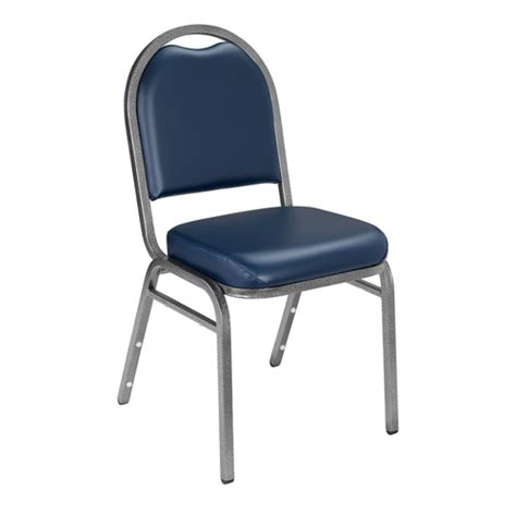 9200 series dome back vinyl padded stack chair