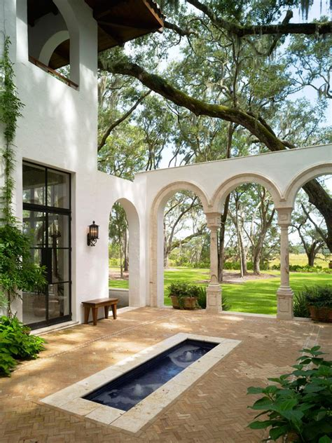 spanish inspired outdoor spaces hgtv