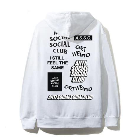 Anti Social Social Clubss新作 Logo Hoodie White
