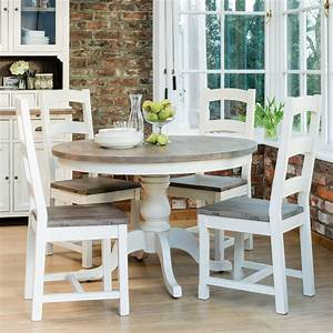 cotswold circular table four wooden chairs dining set With kitchen furniture for restaurant