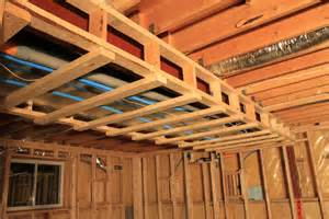 Drop Ceilings In Basements Pictures by Basement Framing Example 2 Basement Finish Design