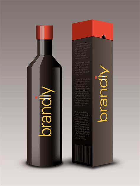 wine bottle packaging psd mockup