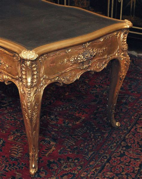 bureau louis xv antique louis xv gold leaf bureau plat circa 1880
