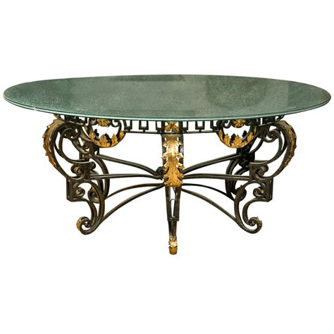 crackle glass table l art nouveau style crackle glass round dining table at 1stdibs