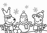 Pig Coloring Pages Peppa Christmas Printable Getcolorings sketch template