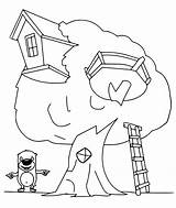 Coloring Treehouse Bears Bestcoloringpagesforkids sketch template