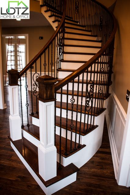 foyer painting staircase staining naperville