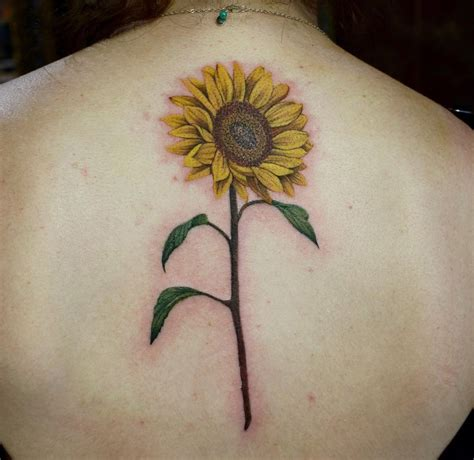 sunflower  piece  tattoo design ideas