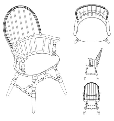 woodwork chair plan cad pdf plans
