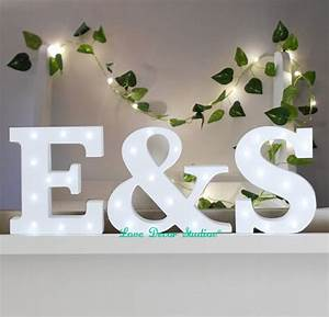 aliexpresscom buy freestanding initials led white light With wooden letters with lights