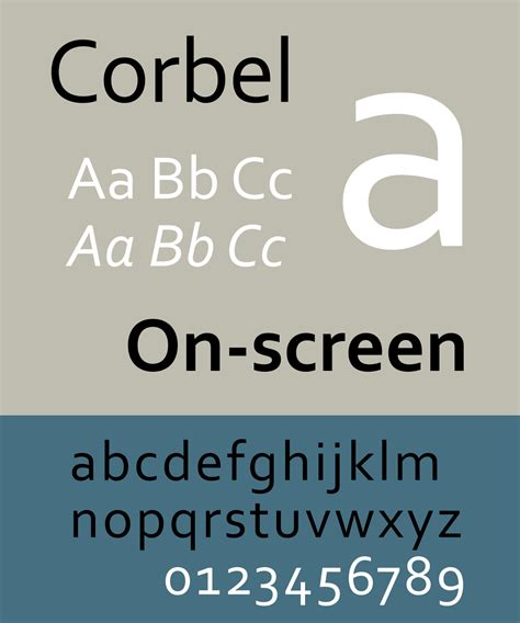 Font Corbel by Corbel Typeface