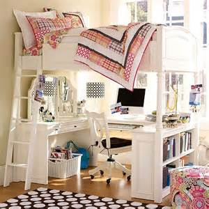 Girls Loft Bunk Beds with Desk