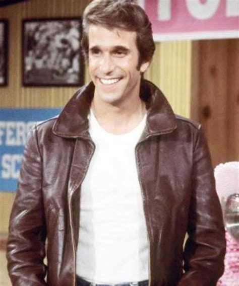 mens brown happy day fonzie jacket
