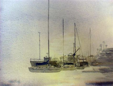 Watercolor Boat by Painting Boats In Watercolor In Rising Fog