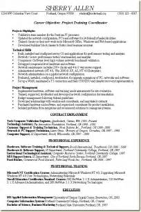 project based learning resume skill based resume sle project coordinator