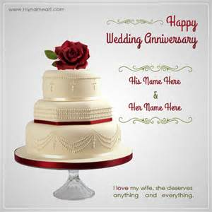 wedding anniversary greetings writing name on wedding anniversary wishes greeting card wishes greeting card