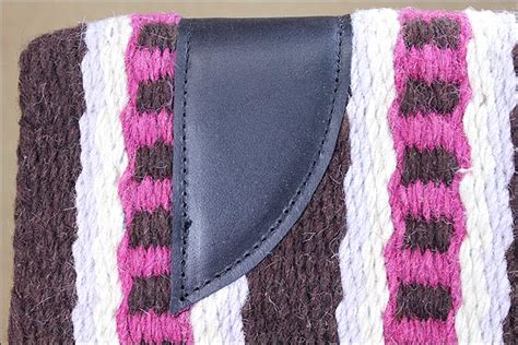 F137 Hilason Western New Zealand Wool Felt Saddle Blanket Pad Brown Pink White Double Knitting Crochet Baby Blanket Pattern Waterproof For King Size Bed Heavy Sleeper How To Knit A On Circle Loom Plug In Fleece Make With Self Binding Pendleton Glacier Park Packable Down Queen