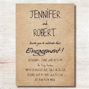 personalized wedding favor bags simple rustic personalized engagement party invitation