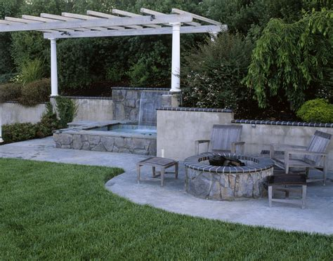 backyard cement patio ideas collection decor of tub patio ideas outdoor decorating photos
