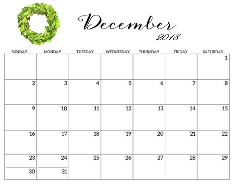 december 2017 printable calendar calendar 2018 printable 2018 monthly blank templates calendar dece