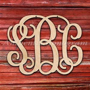 custom rustic wooden barn monogram natural three letter With rustic monogram letters