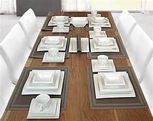 Geschirr Villa Noblesse : porzellan 26 38 tlg tafelservice eckig teller set geschirr ~ Markanthonyermac.com Haus und Dekorationen