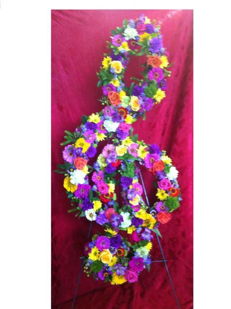 treble clef flower arrangement sympathy flowers pinterest