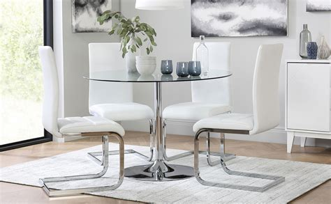 orbit  chrome  glass dining table   perth