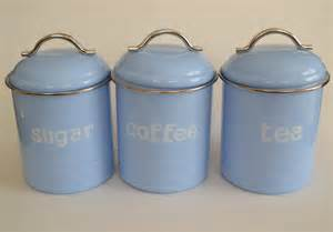 retro canisters kitchen enamel retro kitchen canisters assorted colours tea coffee sugar set of 3 ebay