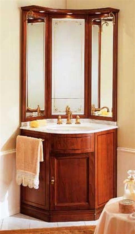 Bathroom Corner Cabinets With Mirror by 25 Best Ideas About Corner Bathroom Vanity On