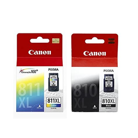canon pg 810 xl black canon combo of pg 810xl and cl 811xl ink cartridge pg