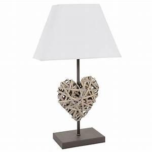 Lampe De Chevet Dorée : lampe de chevet c ur rotin maisons du monde ~ Dailycaller-alerts.com Idées de Décoration
