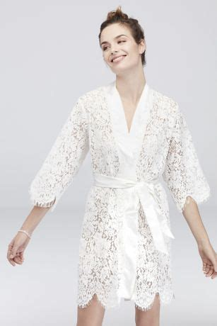 white bridal lace robe davids bridal
