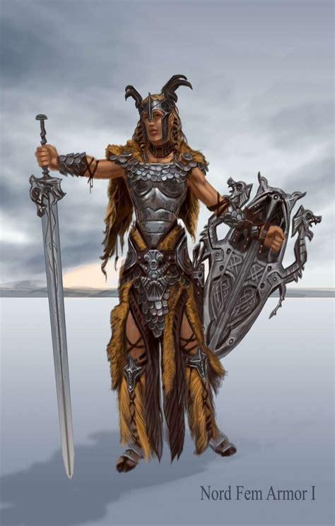 Nord Armor Female Concept Art From The Elder Scrolls V