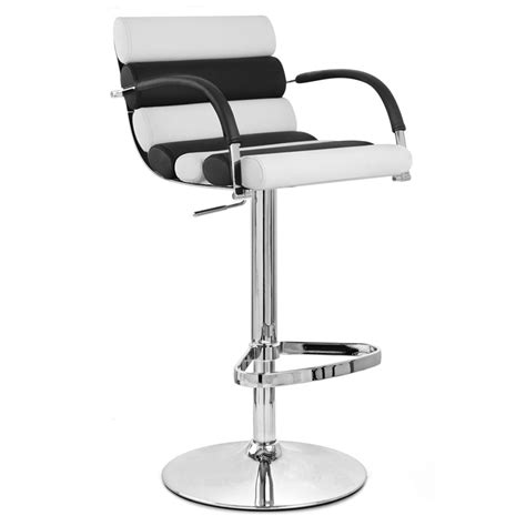 Black And White Stool by Black And White Ego Adjustable Height Swivel Bar Stool