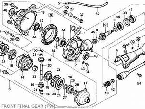 Honda Trx300fw Fourtrax 4x4 1990  L  Usa Parts List